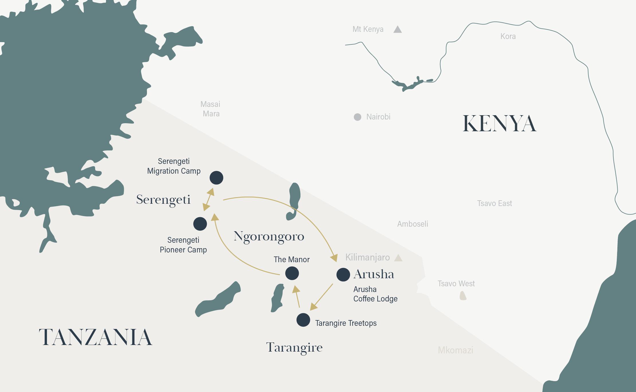 Tanzania Route map